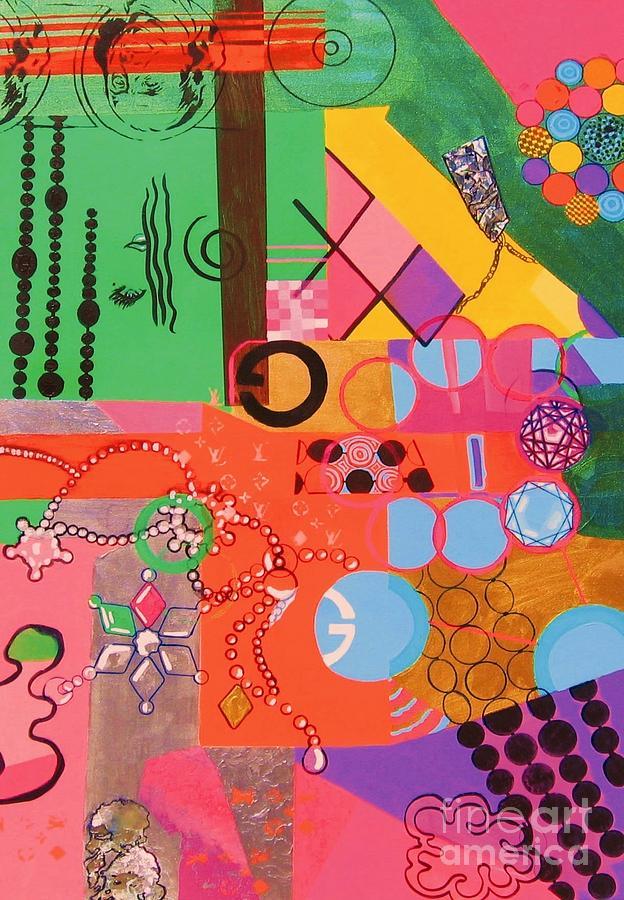 Abstract Painting - American Heiress by Takayuki  Shimada
