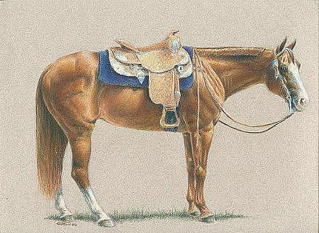 Horse Painting - American Heritage - Quarter Horse by Jenifer Trottier