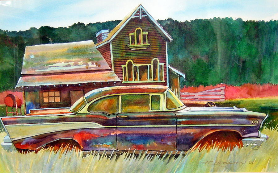 57 Chev Painting - American Heritage by Ron  Morrison