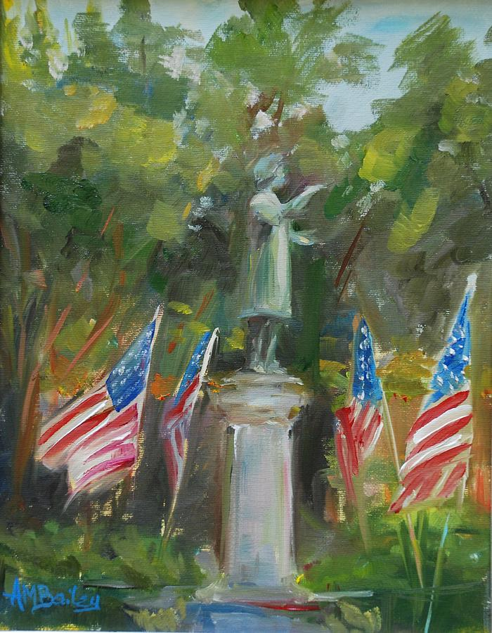 Flags Painting - American Heroes by Ann Bailey