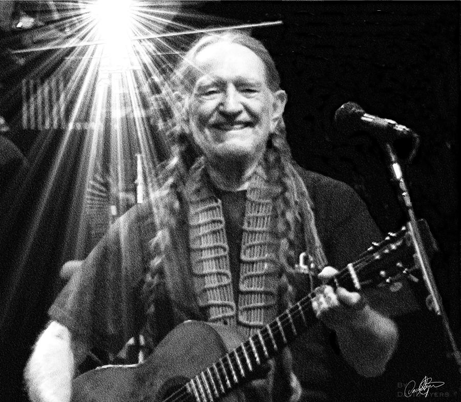 Willie Nelson Digital Art - American Icon - Willie Nelson by David Syers