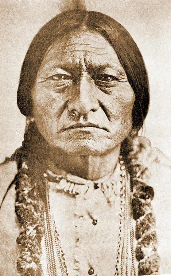 American Photograph - American Indian Chief by Gary Wonning
