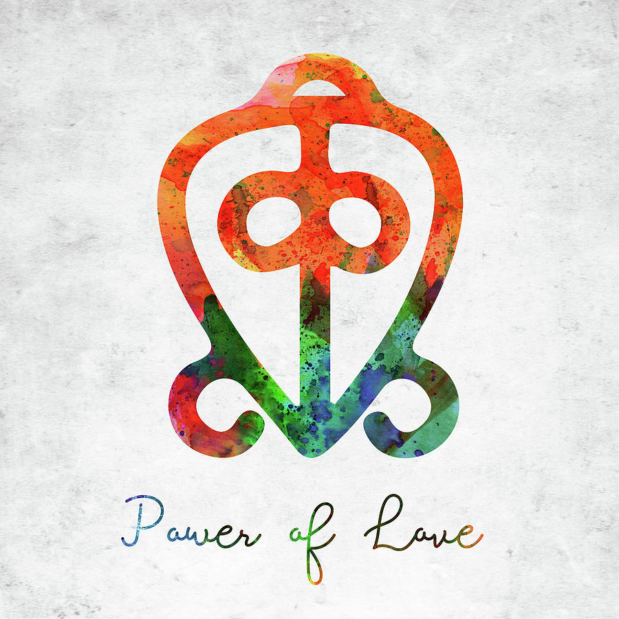 Power Of Love Digital Art - American Indian Symbol - Power Of Love by Mihaela Pater