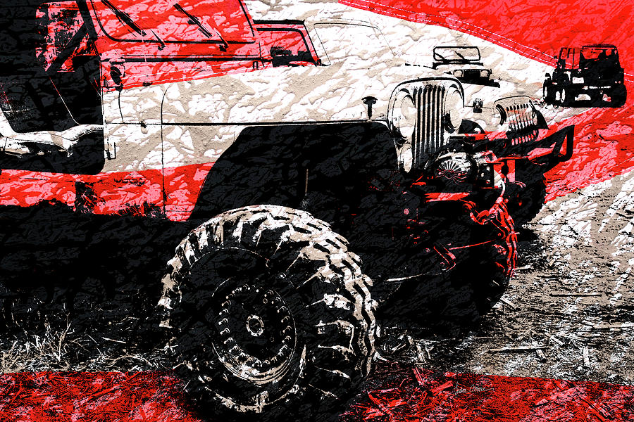 Jeep Cj Photograph - American Jeep Cj - Boulder Approved Mud Bog Ready by Luke Moore