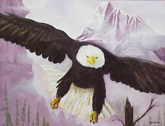 Birds Painting - American Majesty by Merle Blair