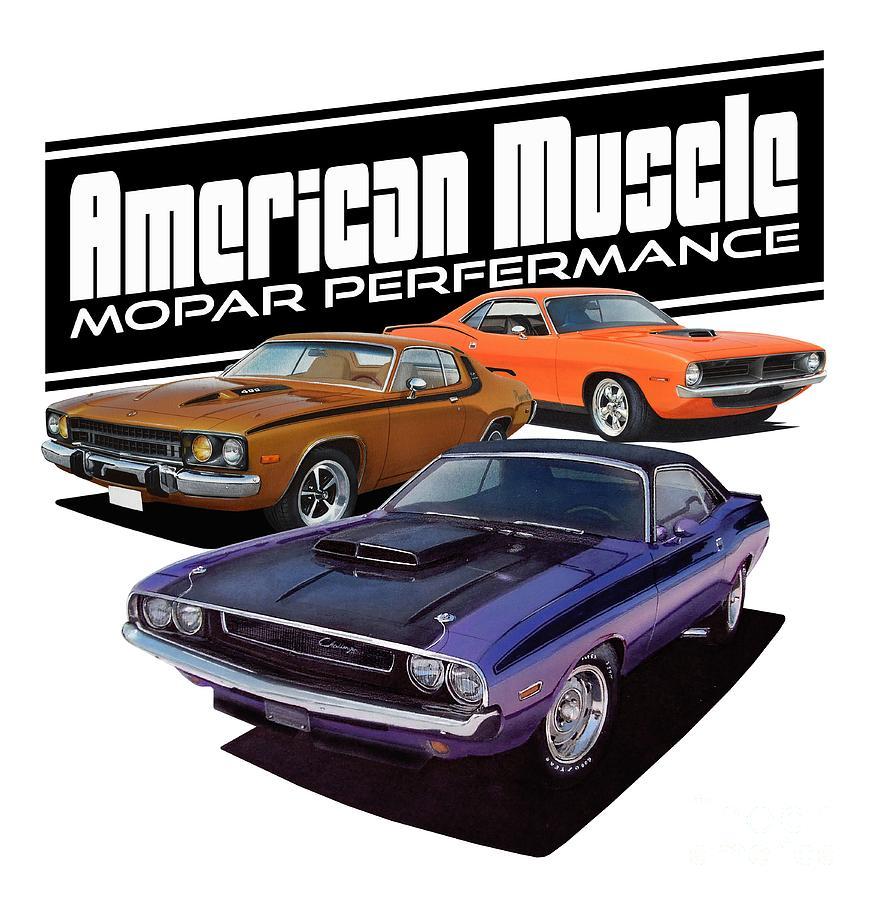 86bb7a460 American Mopar Muscle Digital Art by Paul Kuras