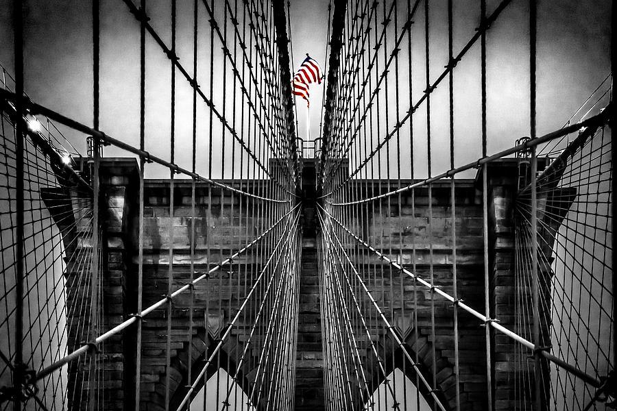 Brooklyn Bridge Photograph - American Patriot by Az Jackson