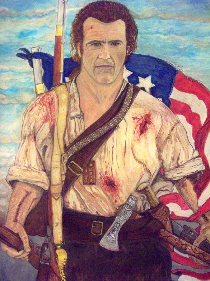 Mel Gibson Painting - American Patriot by Jose Cabral