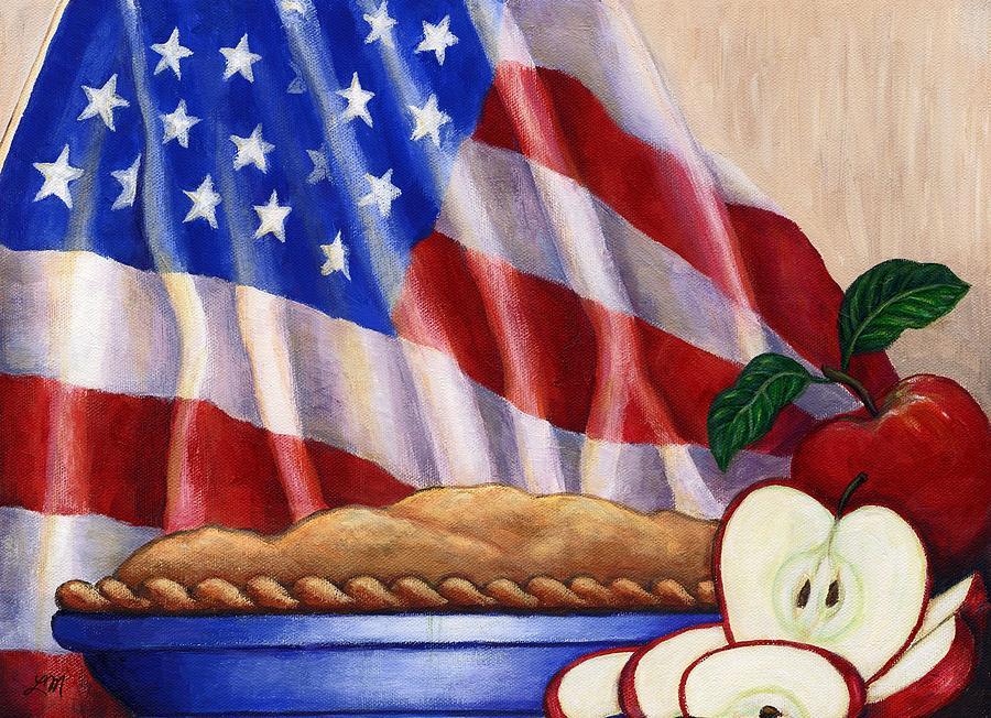 Apples Painting - American Pie by Linda Mears