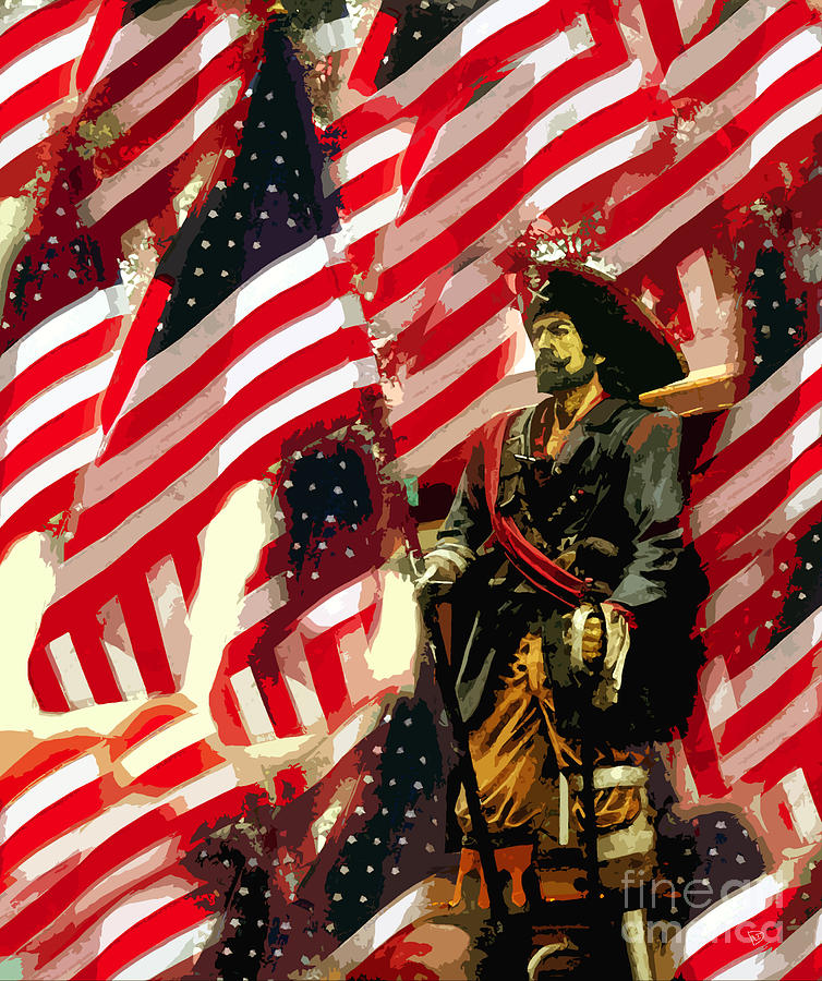 Pirate Painting - American Pirate by David Lee Thompson