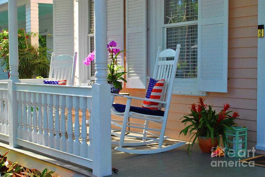 Key West Photograph - American Porch by Jost Houk