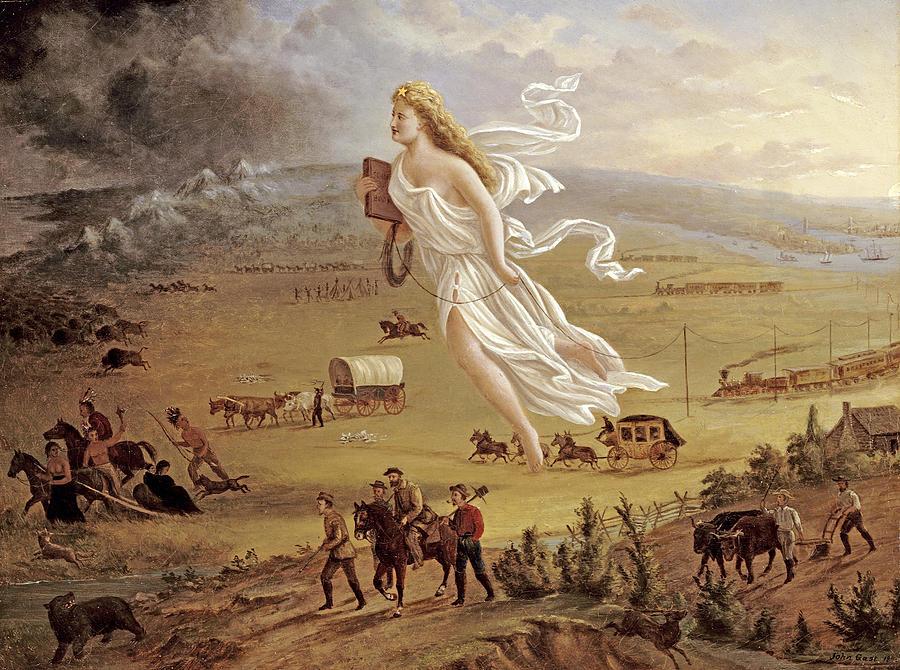 American Progress Painting By John Gast