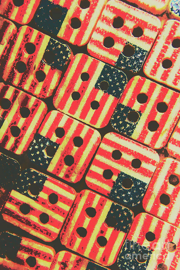 Buttons Photograph - American Quilting Background by Jorgo Photography - Wall Art Gallery
