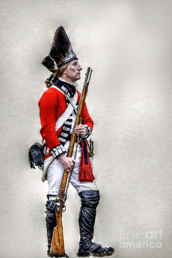 War Digital Art - American Revolution British Soldier  by Randy Steele