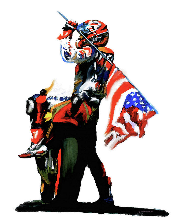 American Revolution Four Nicky Hayden Painting by Iconic Images Art Gallery David Pucciarelli