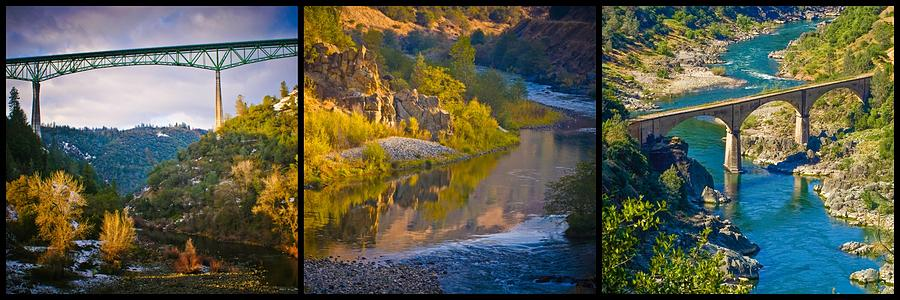 American River Triptych 2 by Sherri Meyer