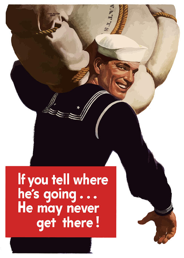 Navy Painting - American Sailor -- Ww2 Propaganda by War Is Hell Store