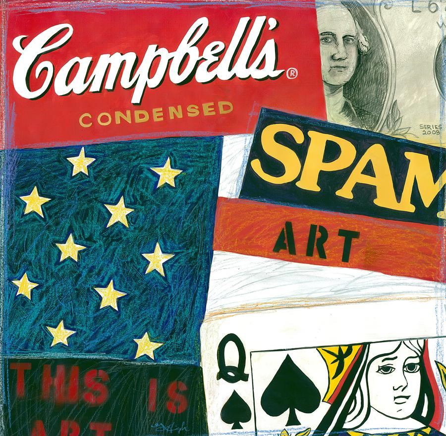 Campbell's Soup Mixed Media - American Self Portrait by Gerry High