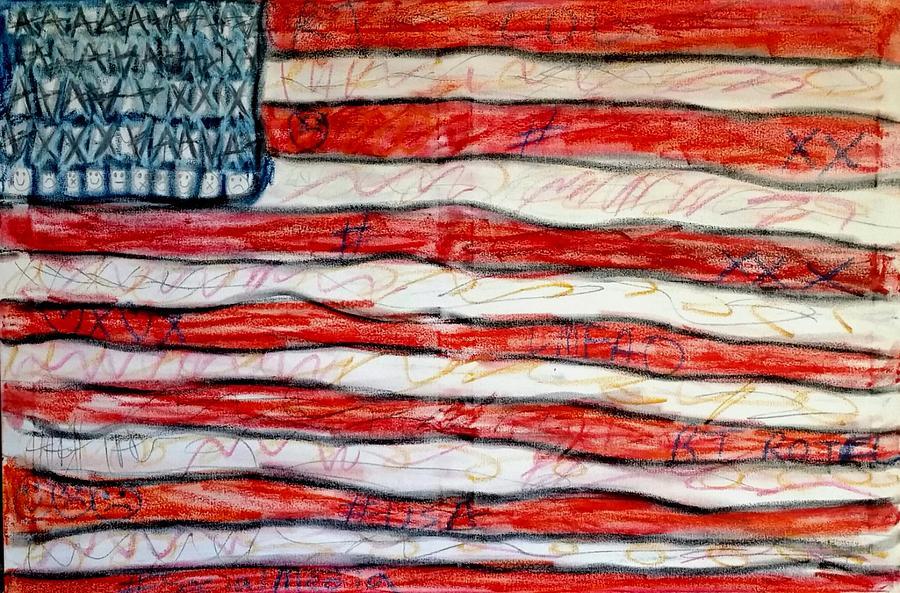 American Flag Mixed Media - American Social by Paulo Guimaraes