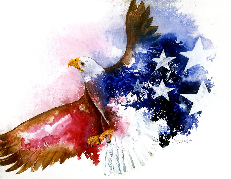 Bird Painting - American Spirit by Sherry Shipley
