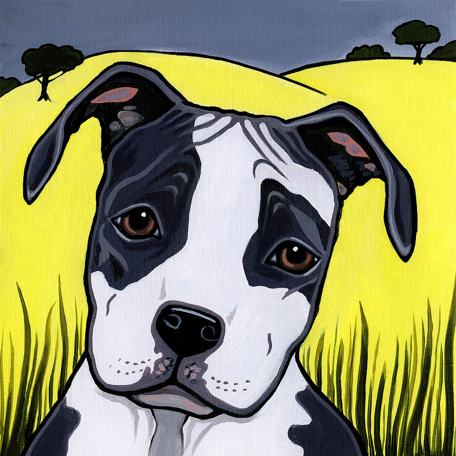 American Staffordshire Terrier Painting - American Staffy by Leanne Wilkes