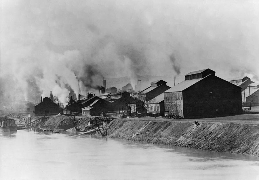 History Photograph - American Steel And Wire Plant by Everett