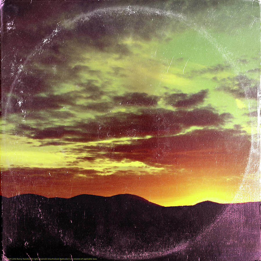Landscape Mixed Media - American Sunset As Vintage Album Art by Little Bunny Sunshine