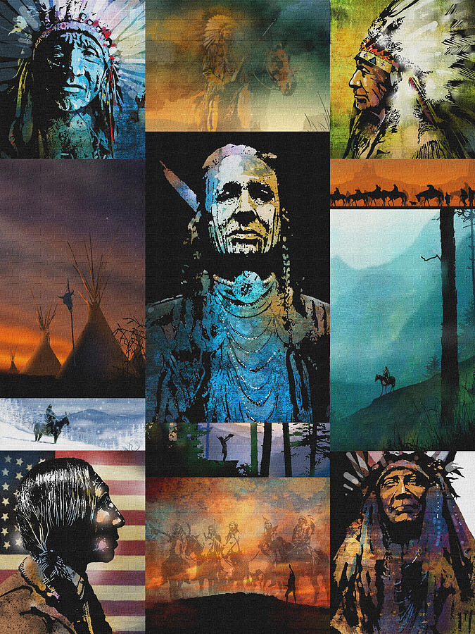Native American Painting - American Tapestry by Paul Sachtleben
