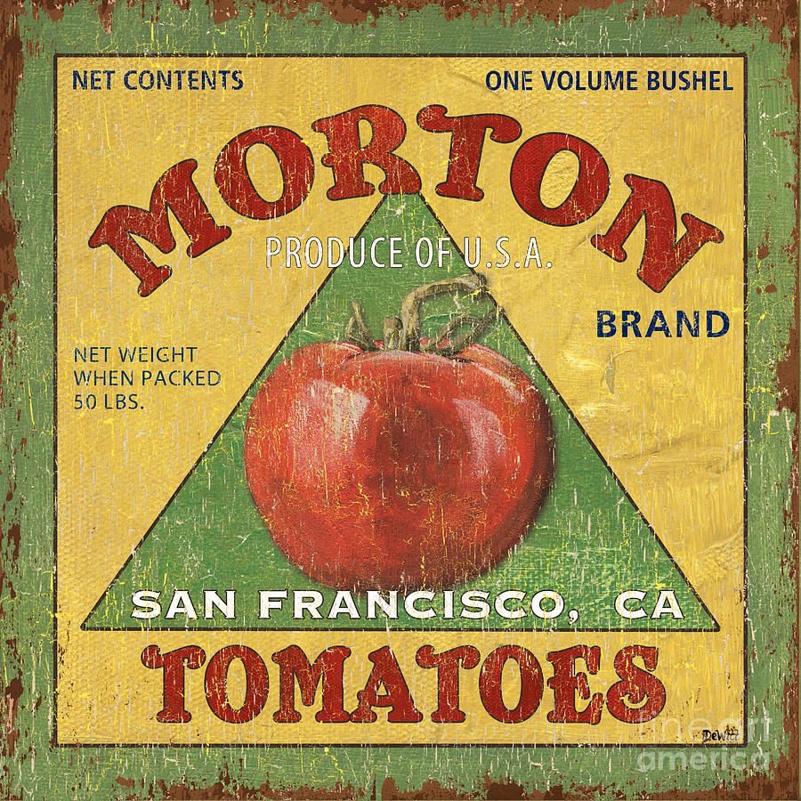 Tomatoes Painting - American Veggies 2 by Debbie DeWitt