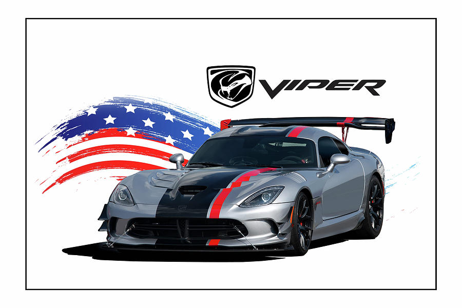 Dodge Digital Art - American Venom by Peter Chilelli