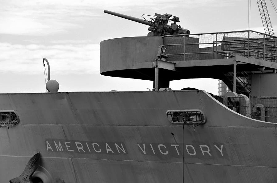World War Two Photograph - American Victory Ship by David Lee Thompson