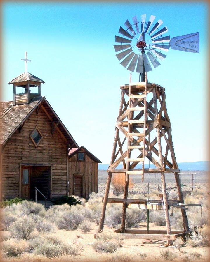 American West Windmill Photograph By Judy Garrett
