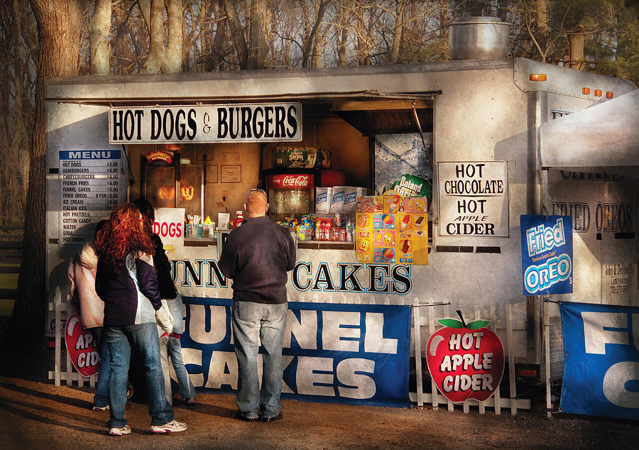 Savad Photograph - Americana - Food - Hot Dogs And Funnel Cakes by Mike Savad