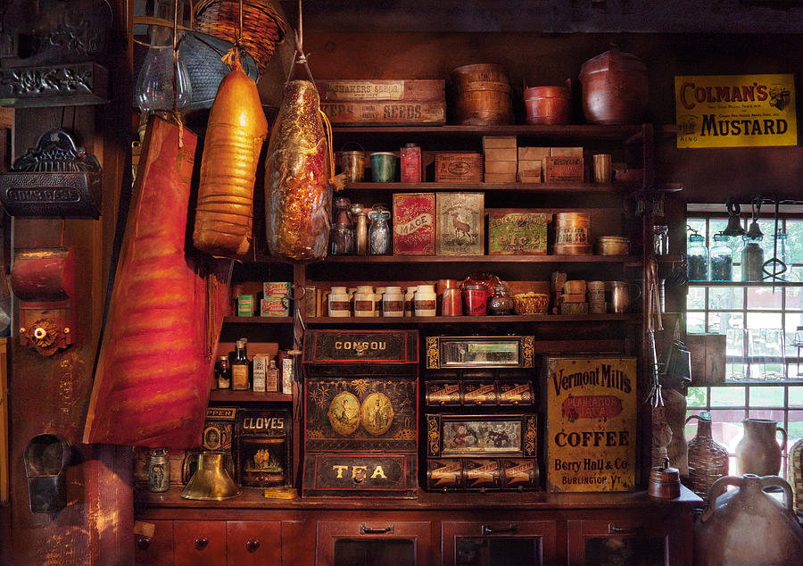 Store Photograph - Americana - Store - The Local Grocers  by Mike Savad