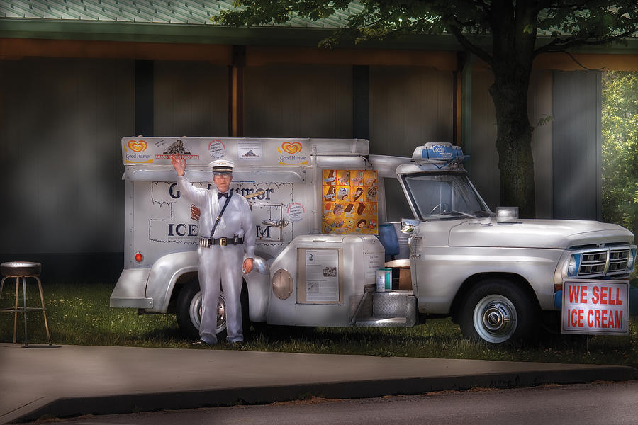 Savad Photograph - Americana -  We Sell Ice Cream by Mike Savad