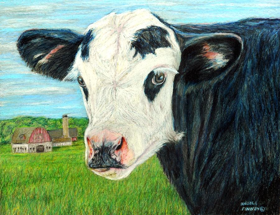 Calf Painting - Americana Calf by Angela Finney