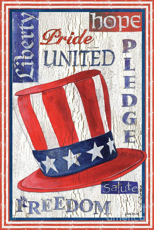 American Painting - Americana Patriotic by Debbie DeWitt