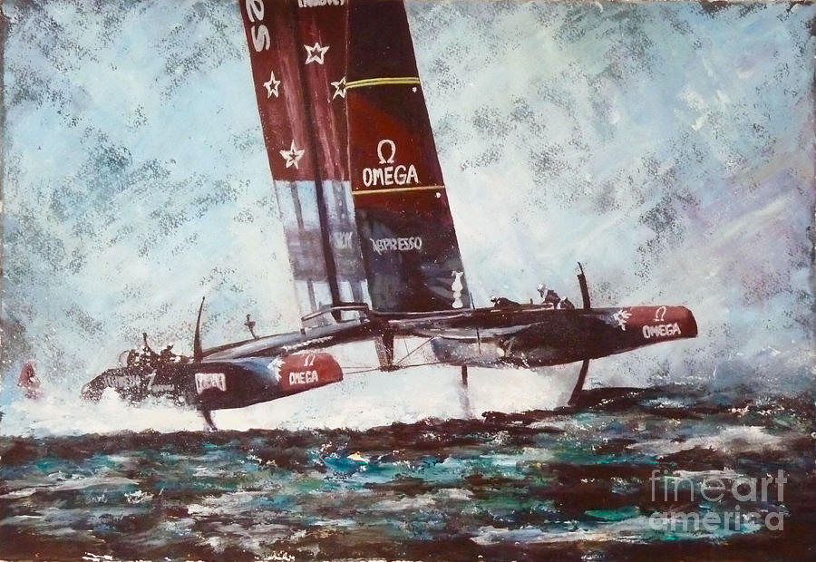 America's Cup Painting - Americas Cup 2013 Series by Anna Duckworth