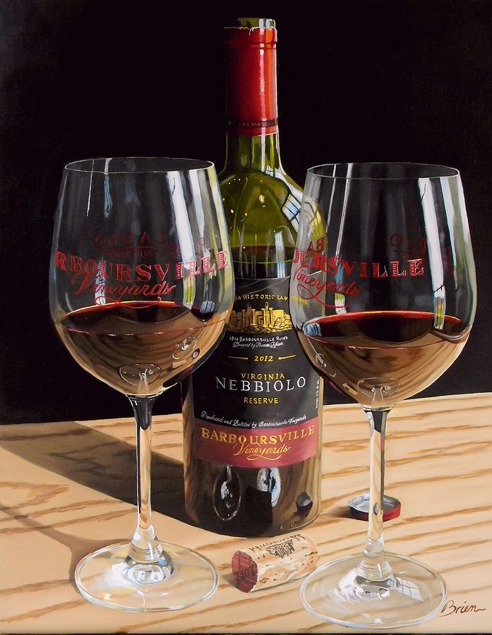 Wine Art Paintings Painting - Americas Nebbiolo by Brien Cole