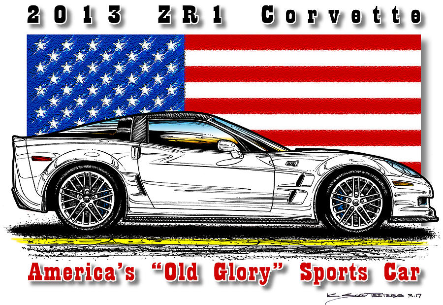 America's Old Glory 2013 ZR1 Corvette by K Scott Teeters