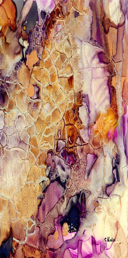 Abstract Painting - Amethyst And Copper 1 by Susan Kubes