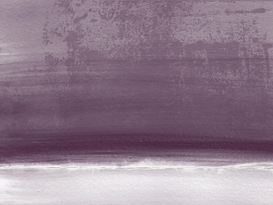 Amethyst Shoreline- Abstract Art By Linda Woods Painting
