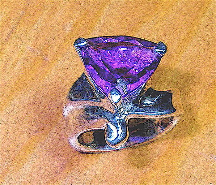 Amethyst Jewelry - Amethyst Trillion by Danny Shaw