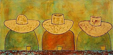 Americana Painting - Amigos Ll by Tommer Gonser