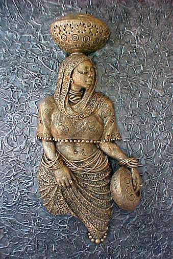 Reliefs Sculpture - Amina by Chidi Okoye