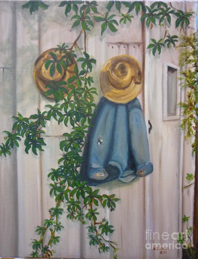 Amish Painting - Amish At Rest by Beverly Hanni