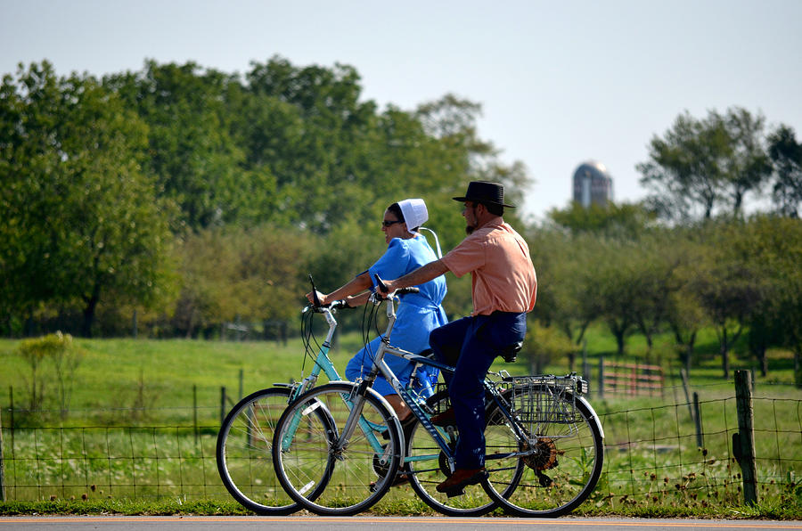 Amish Photograph - Amish Bike Ride by Jeffrey Platt
