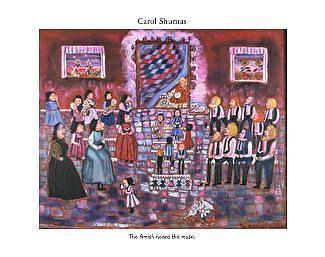 Amish Painting - Amish Heard The Music by Carol Shumas