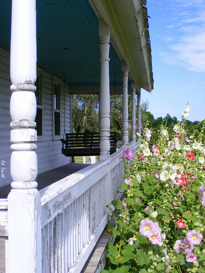 House Photograph - Amish Porch by Ed Smith