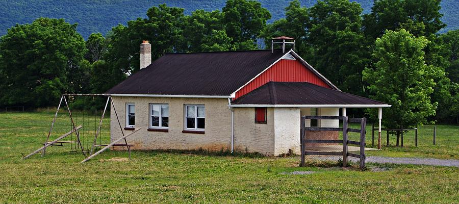 Old Photograph - Amish School In Rote, Pa by Stephanie Calhoun